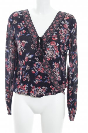 Hollister Langarm-Bluse florales Muster Casual-Look