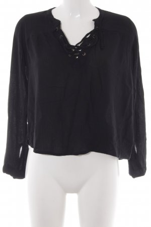 Hollister Langarm-Bluse schwarz Casual-Look