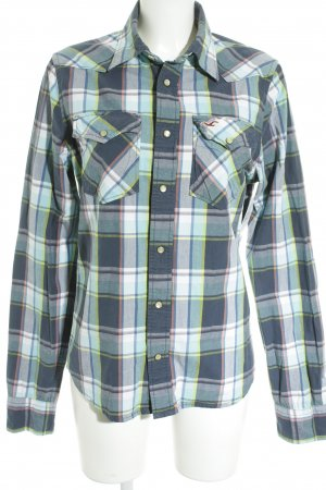 Hollister Long Sleeve Shirt check pattern embroidered logo