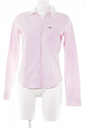 Hollister Langarmhemd rosa-weiß College-Look