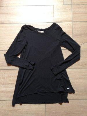 Hollister Langarmshirt Größe XS schwarz seitliche Schlitze hinten etwas länger
