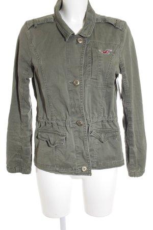 Hollister Lange Jacke olivgrün schlichter Stil