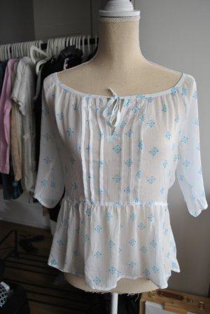 Hollister Leicht transparente Bluse mit Print