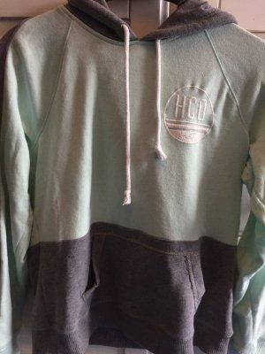Hollister Logo Hoodie in grau/mint
