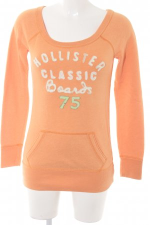 Hollister Long Sweater embroidered lettering athletic style