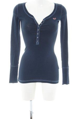 Hollister Longsleeve blau Casual-Look