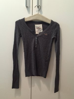 Hollister Longsleeve in Strickoptik