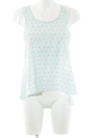 Hollister Top long vert menthe motif floral style romantique