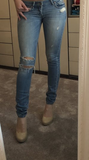 Hollister Jeans vita bassa blu