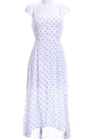 Hollister Maxi-jurk wit-zwart gestippeld patroon casual uitstraling