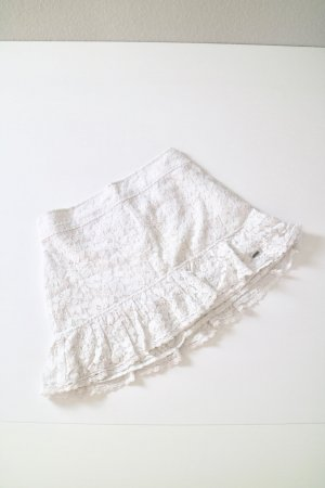 Hollister Lace Skirt white-natural white mixture fibre