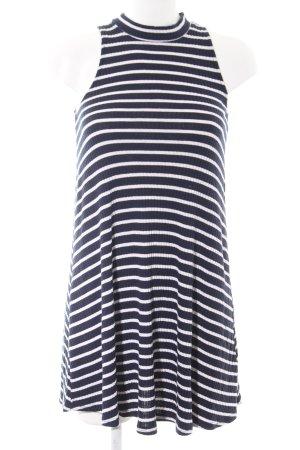 Hollister Minikleid blau-weiß Streifenmuster Elegant