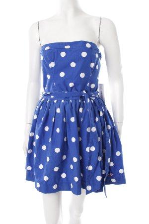Hollister Minikleid blau-weiß Punktemuster 60ies-Stil