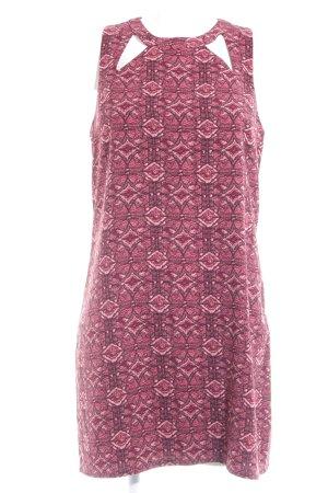 Hollister Minikleid purpur-rosé Ikatmuster