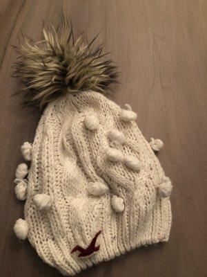 Hollister Chapeau en tricot blanc cassé