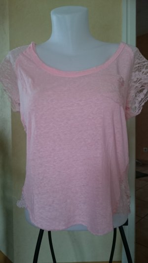 Hollister Oversized T-Shirt Gr M Korall Rosa Spitze