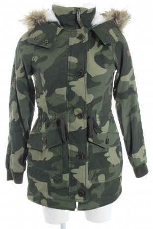 Hollister Parka Camouflagemuster Casual-Look