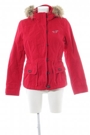 Hollister Parka rot Casual-Look