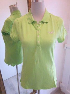 Hollister Polo Shirt Neon Grün Gr L