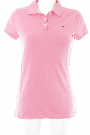 Hollister Polo Shirt pink embroidered logo