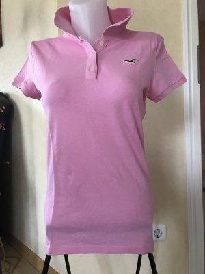 Hollister Polo T-Shirt Rosa Gr L