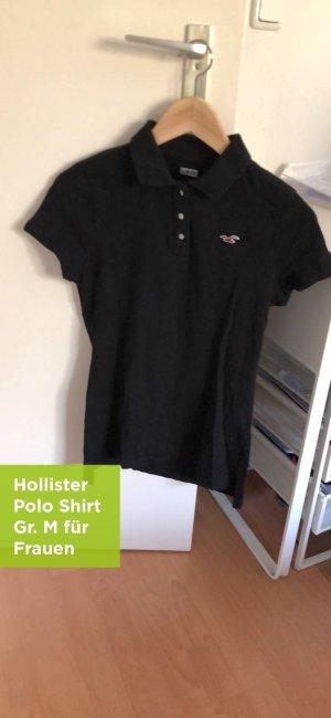 Hollister Camiseta tipo polo negro