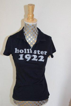 Hollister Polo shirt wit-donkerblauw Gemengd weefsel