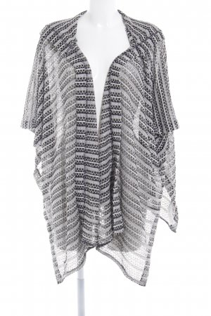 Hollister Poncho zwart-wolwit abstract patroon casual uitstraling