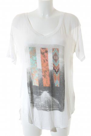 Hollister Print-Shirt Motivdruck Casual-Look