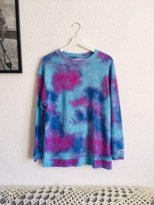 Hollister Pulli sweater batik blau bunt Gr S
