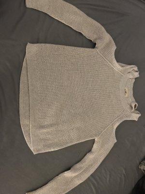 Hollister Grof gebreide trui licht beige