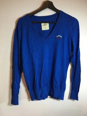 Hollister Jersey con cuello de pico azul
