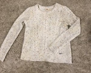 Hollister Cable Sweater white
