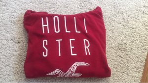 Hollister Hooded Sweater white-brick red