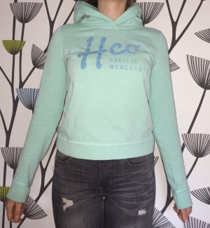 Hollister Hooded Sweater mint-baby blue