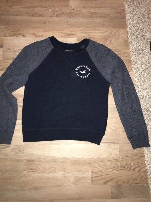 Hollister Kraagloze sweater staalblauw-donkerblauw