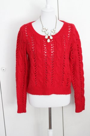 Hollister Pullover Grobstrick Rot Gr. L