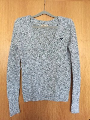 Hollister V-Neck Sweater light grey