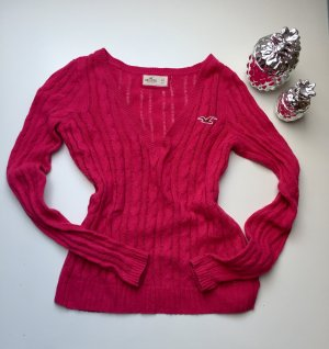 Hollister Pullover pink/rot