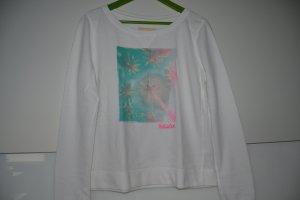 Hollister Pullover weiß/mintgrün/pink Gr.S/M (36/38)