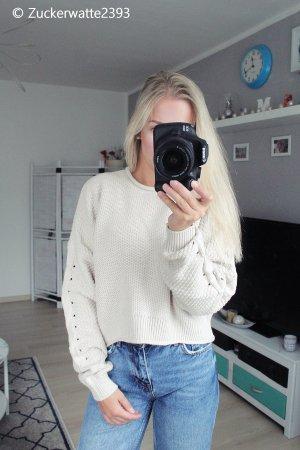 Hollister Pullover XS / S creme/beige