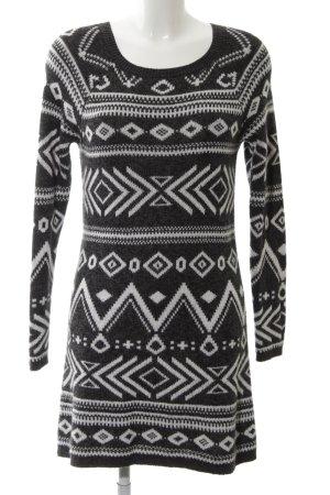 Hollister Robe pull noir-blanc imprimé allover style simple