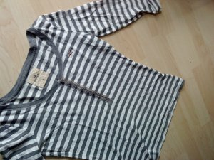 Hollister Ringelshirt grau/weiß in M 3/4 Arm