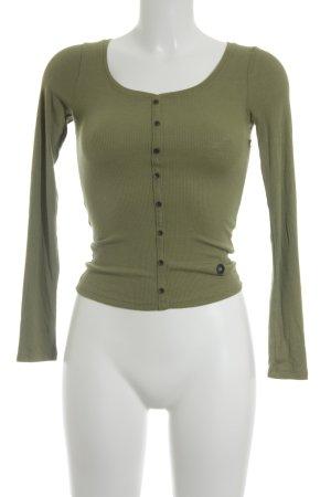 Hollister Rippshirt olivgrün Casual-Look