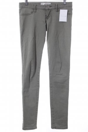 Hollister Drainpipe Trousers olive green street-fashion look