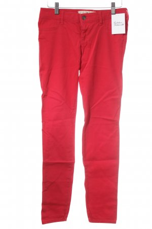 Hollister Röhrenhose rot Casual-Look