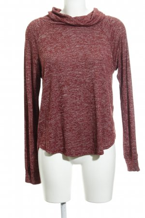 5bb9d9adc4c Hollister Turtleneck Sweater dark red-white flecked casual look