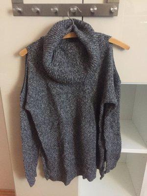 Hollister - schulterfreier Rolli - grau - Wolle (angenehm zu tragen)