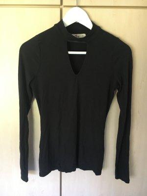 Hollister - Schwarzes Langarmshirt mit Ausschnitt