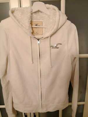 Hollister Veste sweat blanc cassé